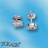 Oбици с камъни от сребро - Сребърни Детски обици - 120230