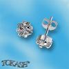 Oбици с камъни от сребро - Сребърни Детски обици - 120231