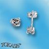 Oбици с камъни от сребро - Сребърни Детски обици - 120227