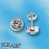 Oбици с камъни от сребро - Сребърни Детски обици - 120228