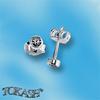 Oбици с камъни от сребро - Сребърни Детски обици - 120226