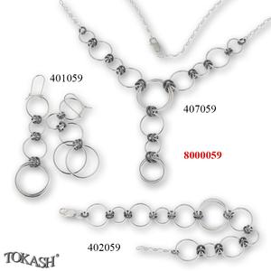сребърен комплект с колие 8408059