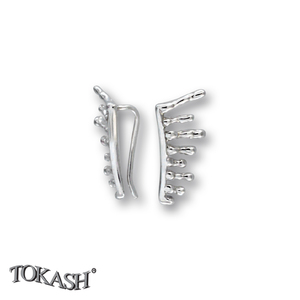 Silver earrings without stones - 111234