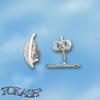 Oбици с камъни от сребро - Сребърни Детски обици - 120263