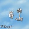 Oбици с камъни от сребро - Сребърни Детски обици - 120258