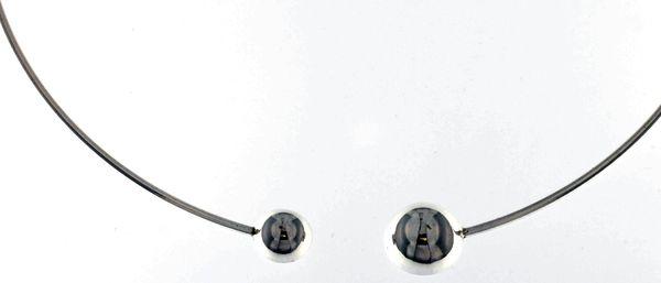Silver necklace 407057