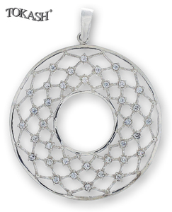 Silver pendants with CZ - 174656