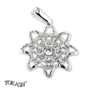 Silver pendants with CZ - 173112