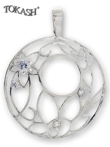 Silver pendants with CZ - 174651