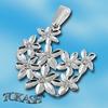 Висулки от сребро с камък - 174379