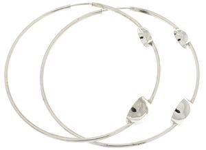 silver earrings hollow 401057