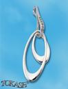 Висулки от сребро с камък - 174427