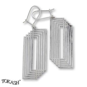 Silver Earings stones 601035