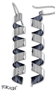 silver earrings hollow 401058