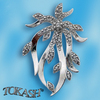 Silver pendants with CZ - 173361