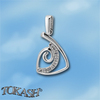 Silver pendants with CZ - 174469