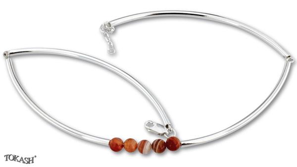 Silver necklace 407048