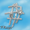 Silver pendants with CZ - 174020
