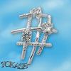 Висулки от сребро с камък - 174020